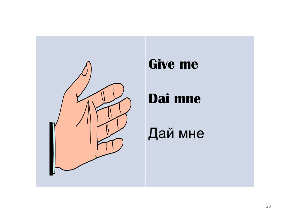 28 Give me Dai mne Дай мне