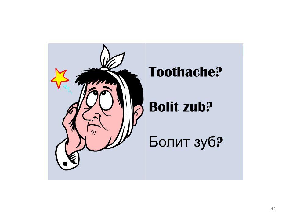 43 Toothache Bolit zub Болит зуб