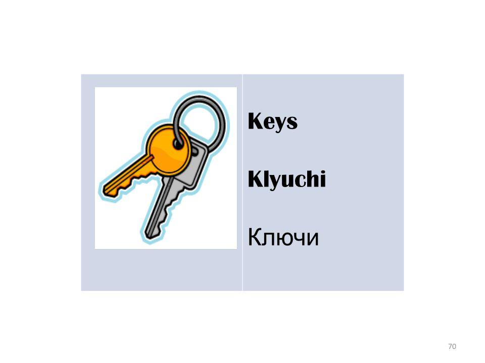 70 Keys Klyuchi Ключи
