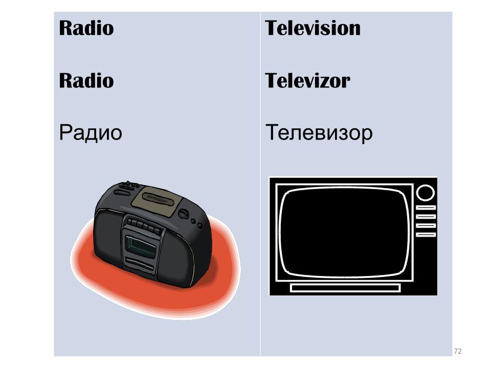 72 Radio Радио Television Televizor Телевизор