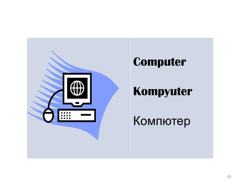 83 Computer Kompyuter Компютер