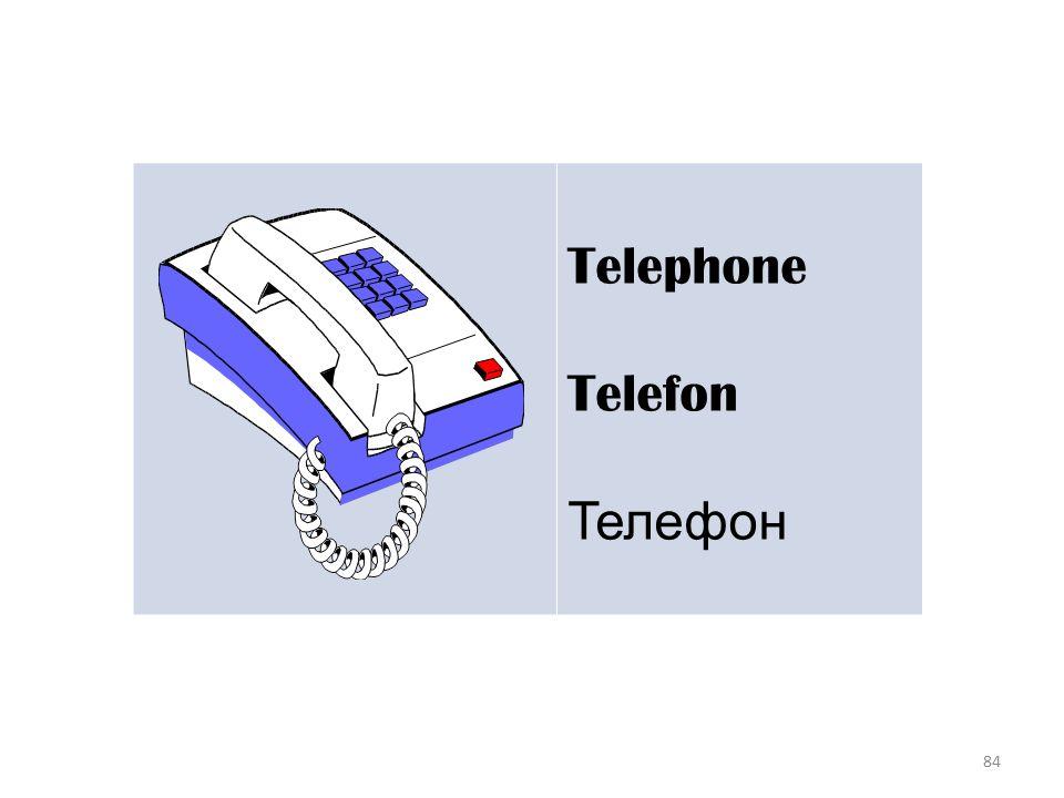 84 Telephone Telefon Телефон