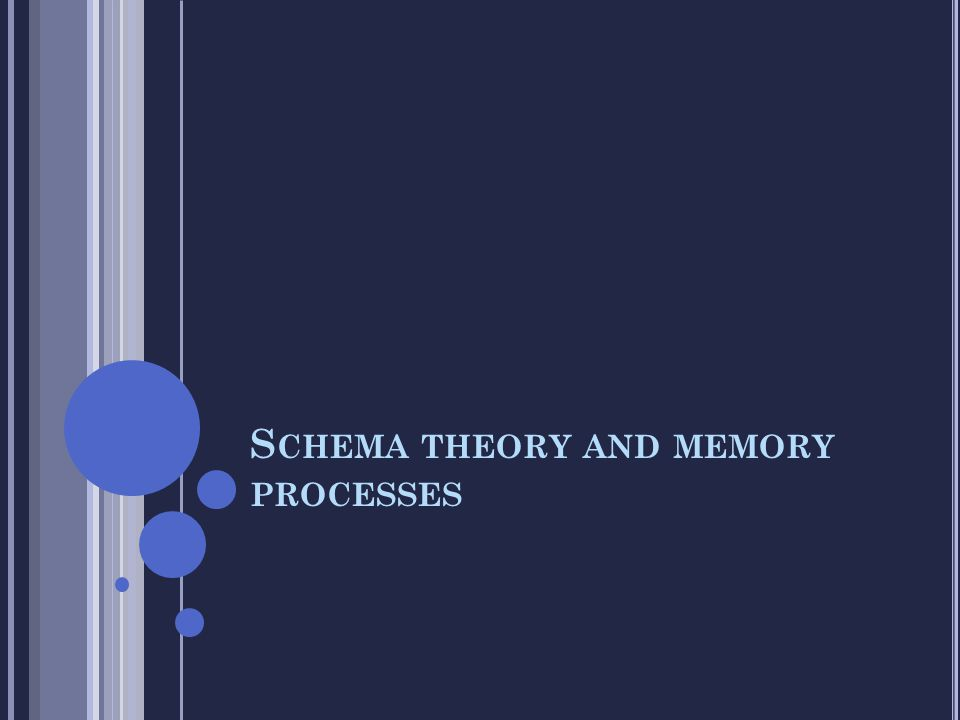 S CHEMA THEORY AND MEMORY PROCESSES