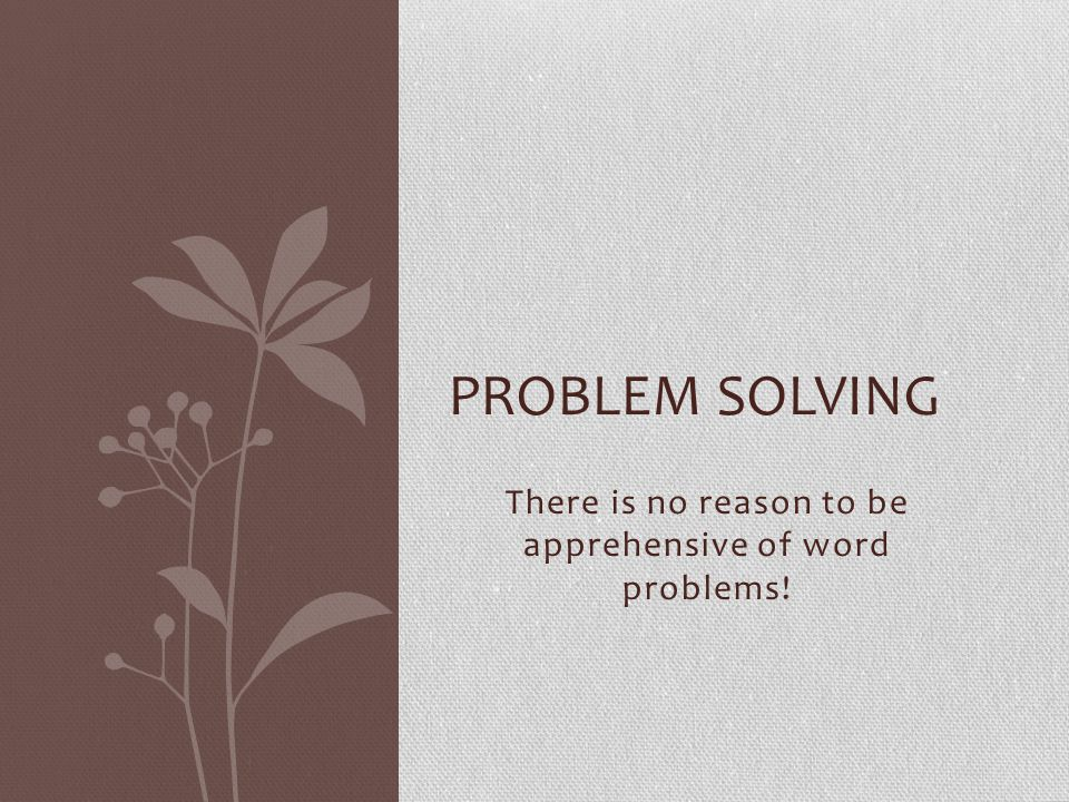 You are great! Turn to p. (67 x 2) Do problems 4 – 10. PROBLEM SOLVING