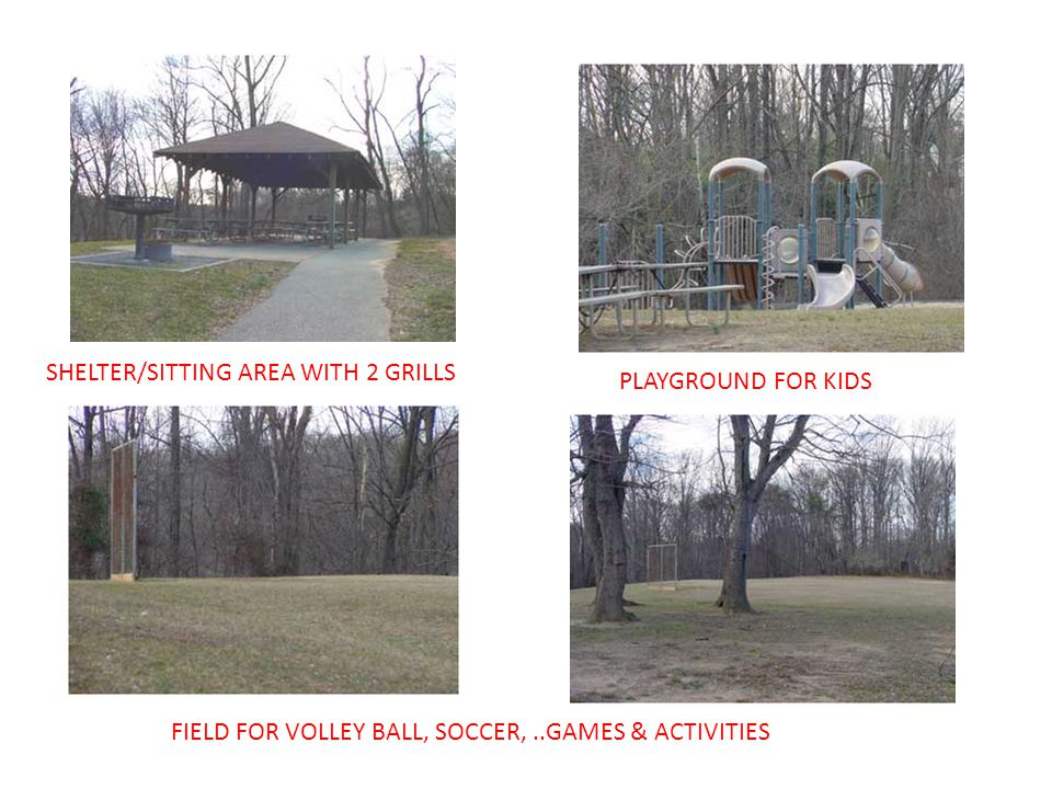 SHELTER/SITTING AREA WITH 2 GRILLS PLAYGROUND FOR KIDS FIELD FOR VOLLEY BALL, SOCCER,..GAMES & ACTIVITIES