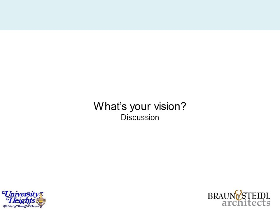 What's your vision? Discussion