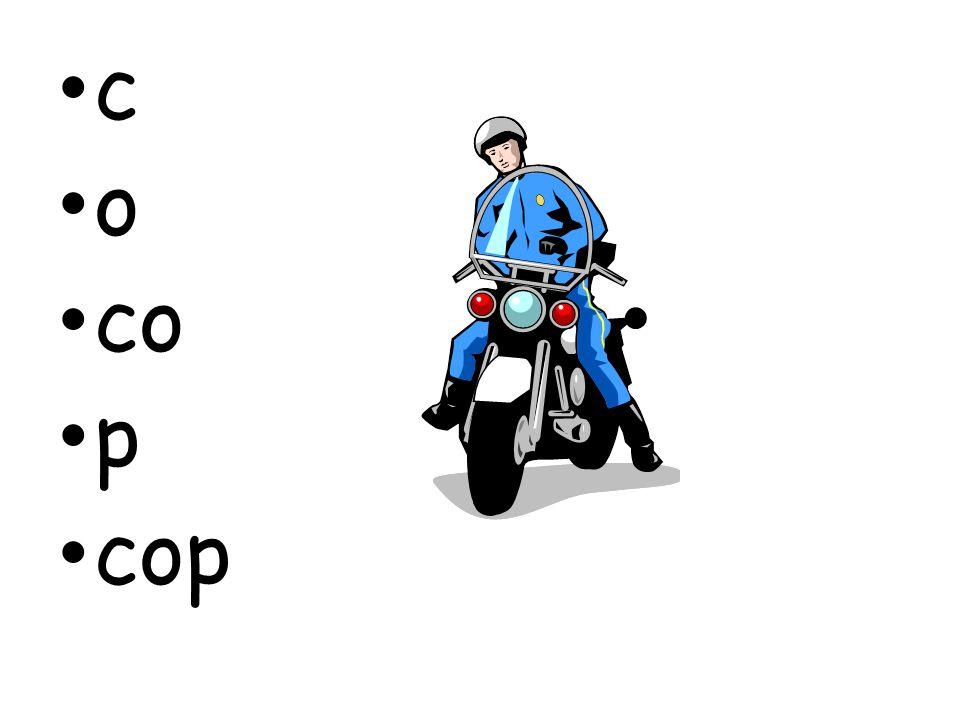 c o co p cop
