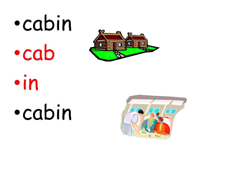 cabin cab in cabin