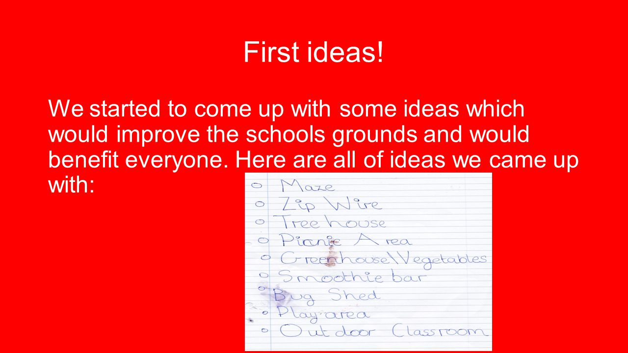 First ideas.