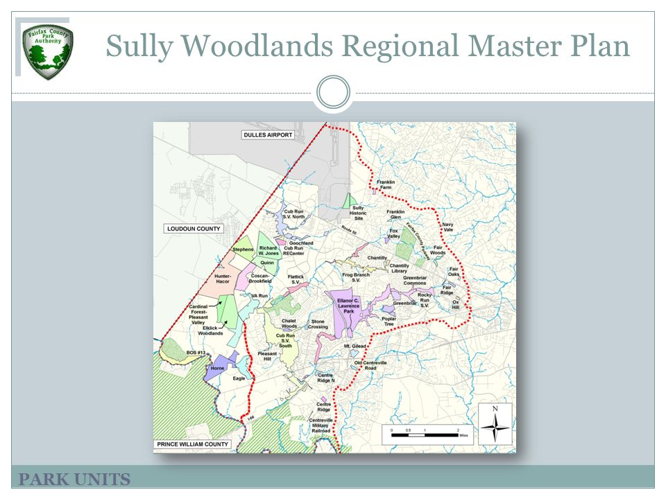 PARK UNITS Sully Woodlands Regional Master Plan