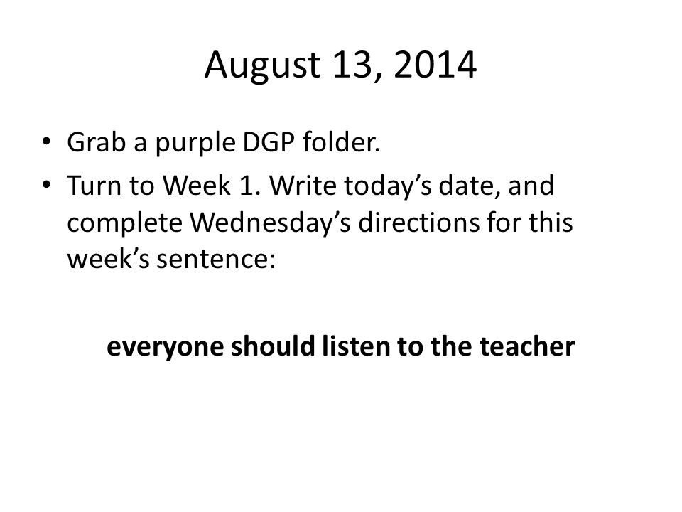 September 12, 2014 Happy Friday!.Grab a purple DGP folder.