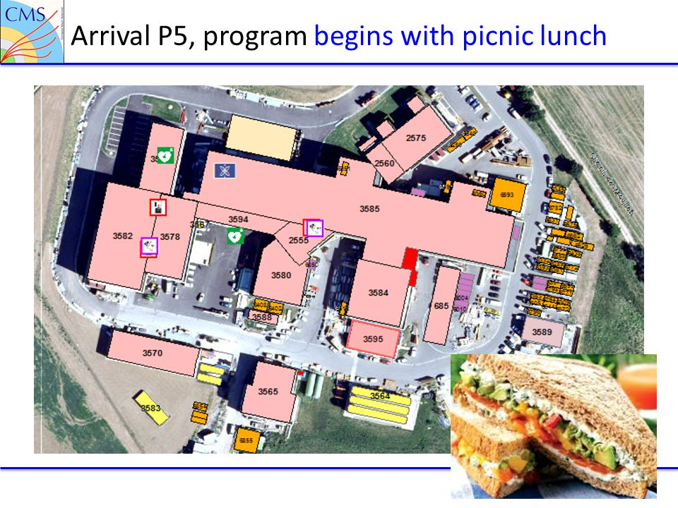 Arrival P5, program begins with picnic lunch