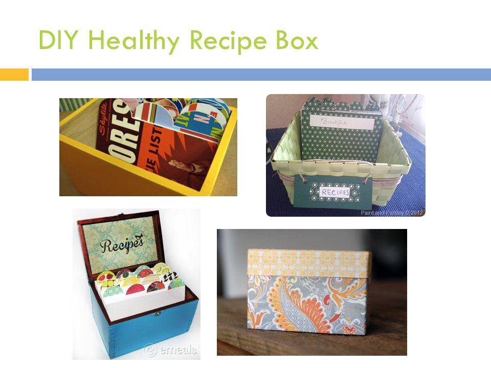 DIY Healthy Recipe Box