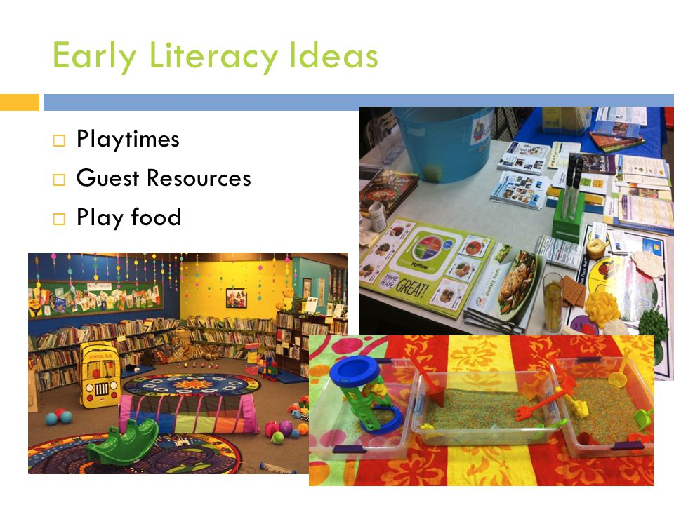 Early Literacy Ideas  Playtimes  Guest Resources  Play food