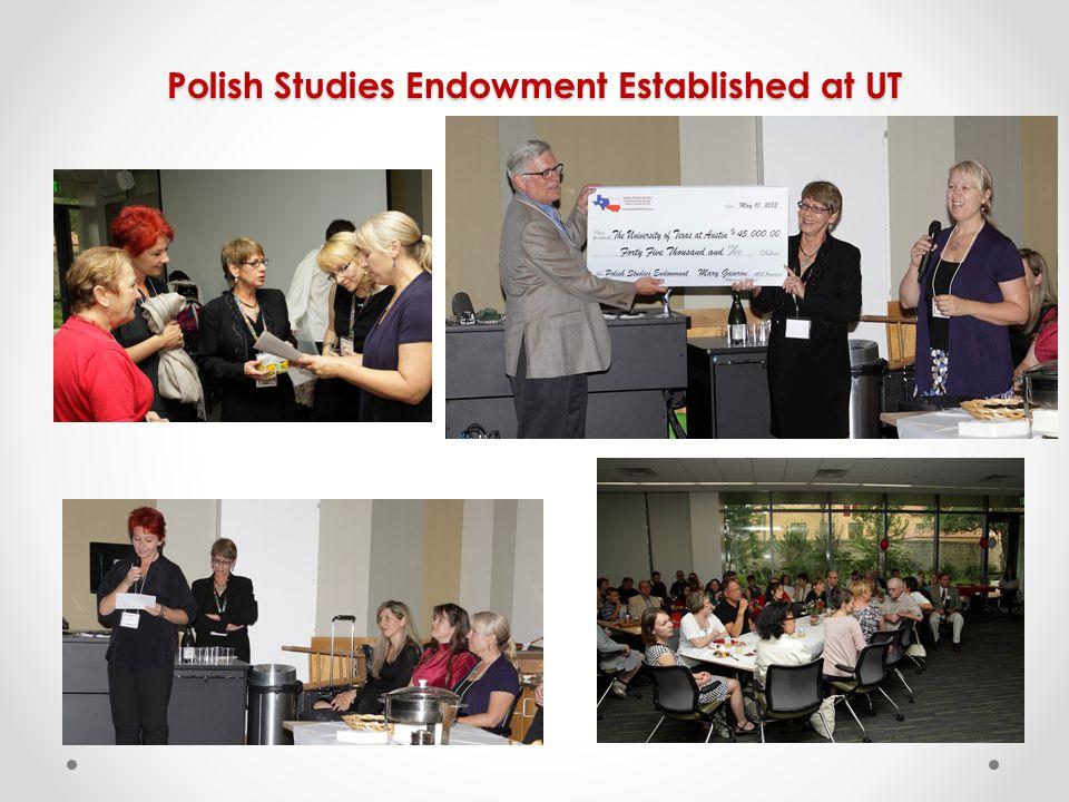 Polish Studies Endowment Established at UT