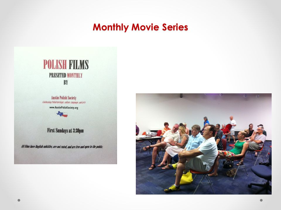 Monthly Movie Series