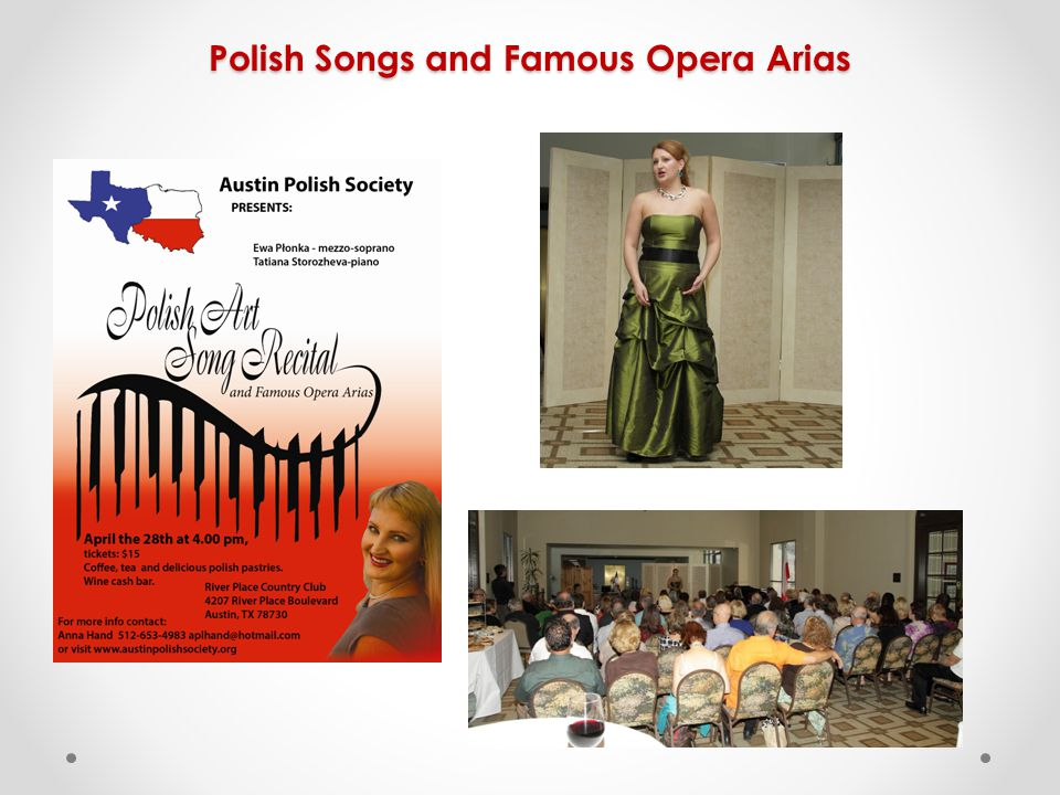 Polish Songs and Famous Opera Arias
