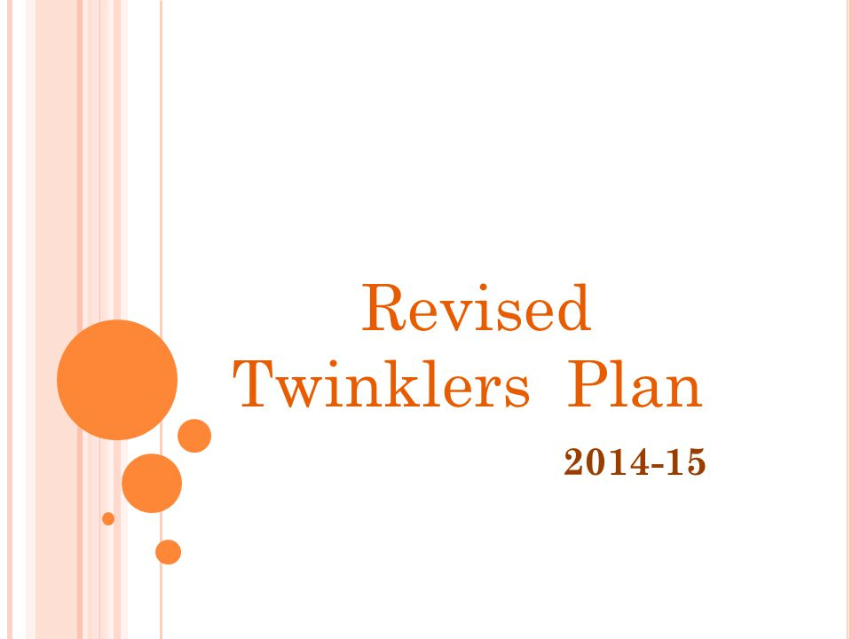 2014-15 Revised Twinklers Plan