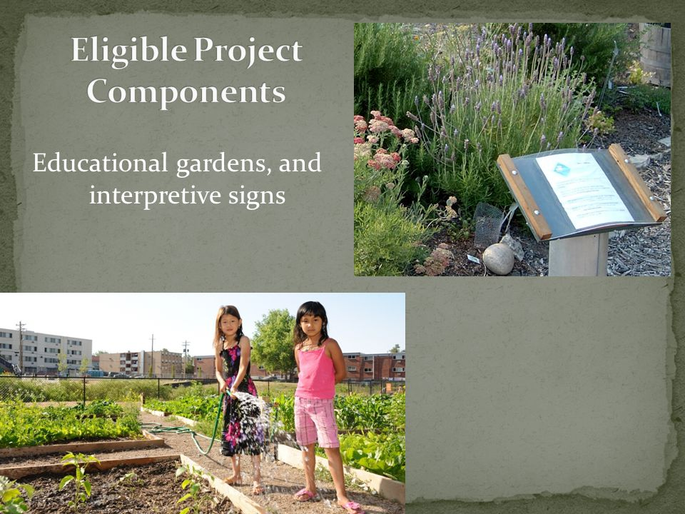 Educational gardens, and interpretive signs