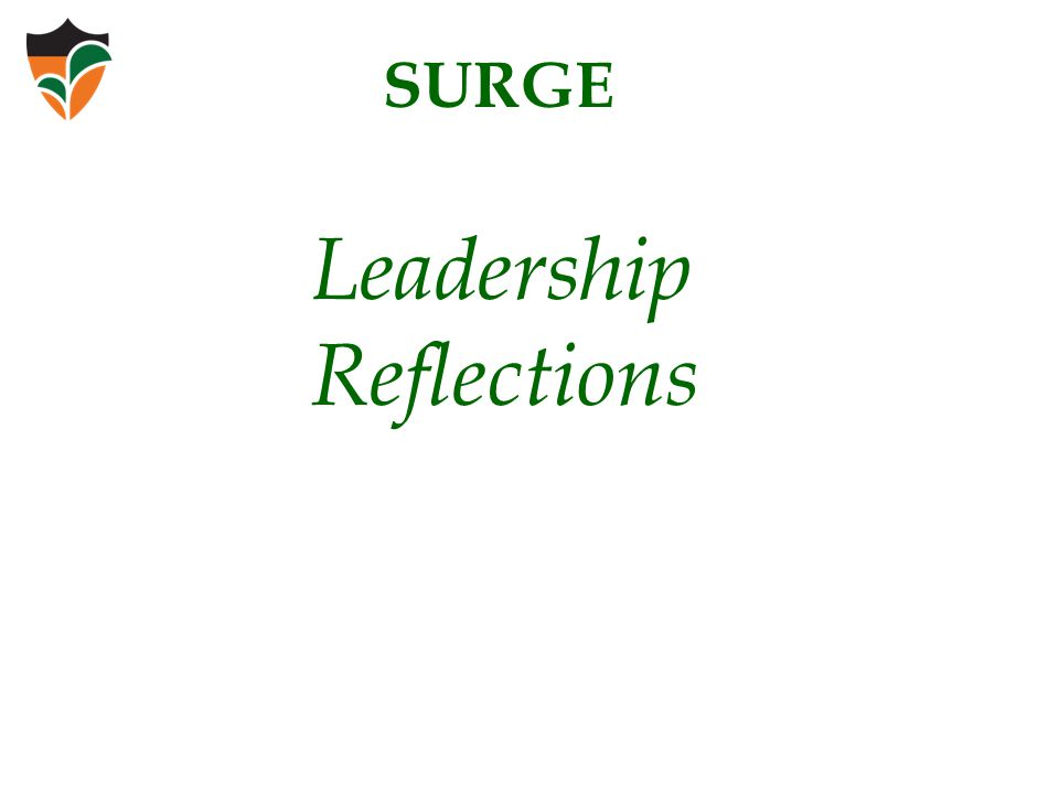 Leadership Reflections SURGE