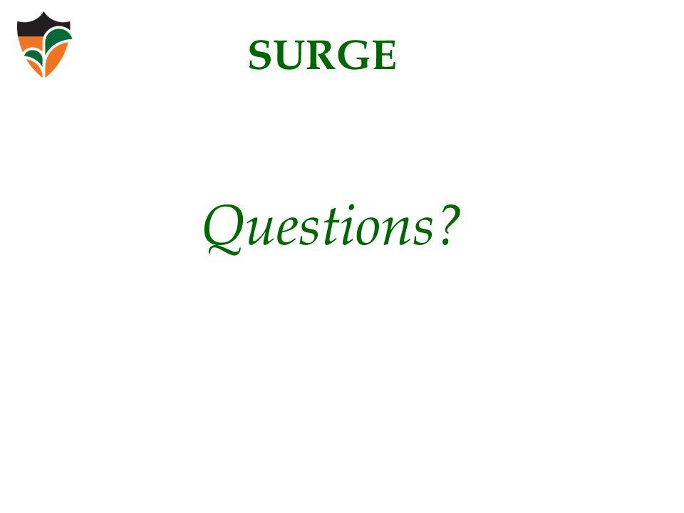 Questions? SURGE