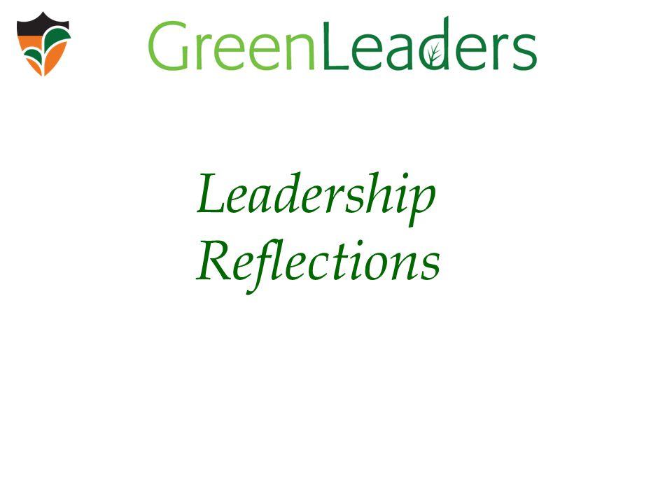 Leadership Reflections