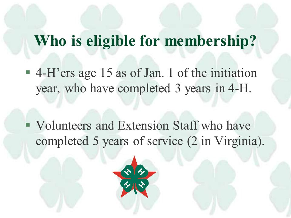 Purpose of 4-H All Stars §To contribute to positive youth development through