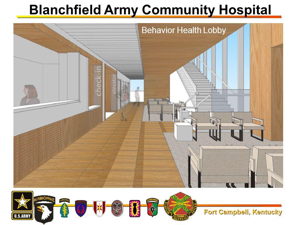 Fort Campbell, Kentucky Blanchfield Army Community Hospital Behavior Health Lobby