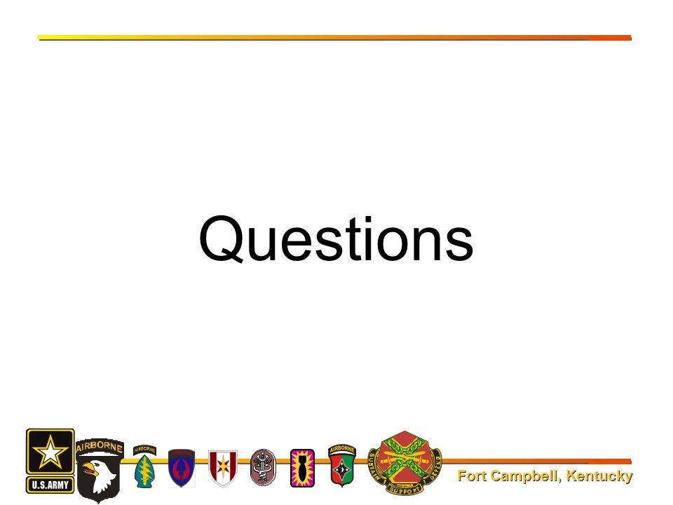 Fort Campbell, Kentucky Questions