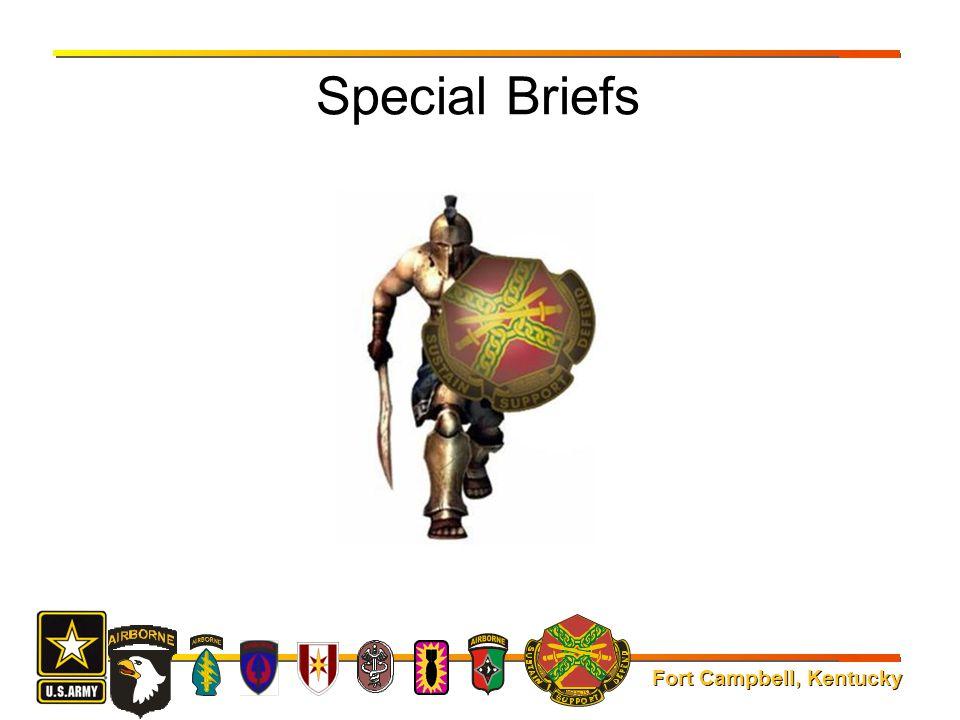 Fort Campbell, Kentucky Special Briefs