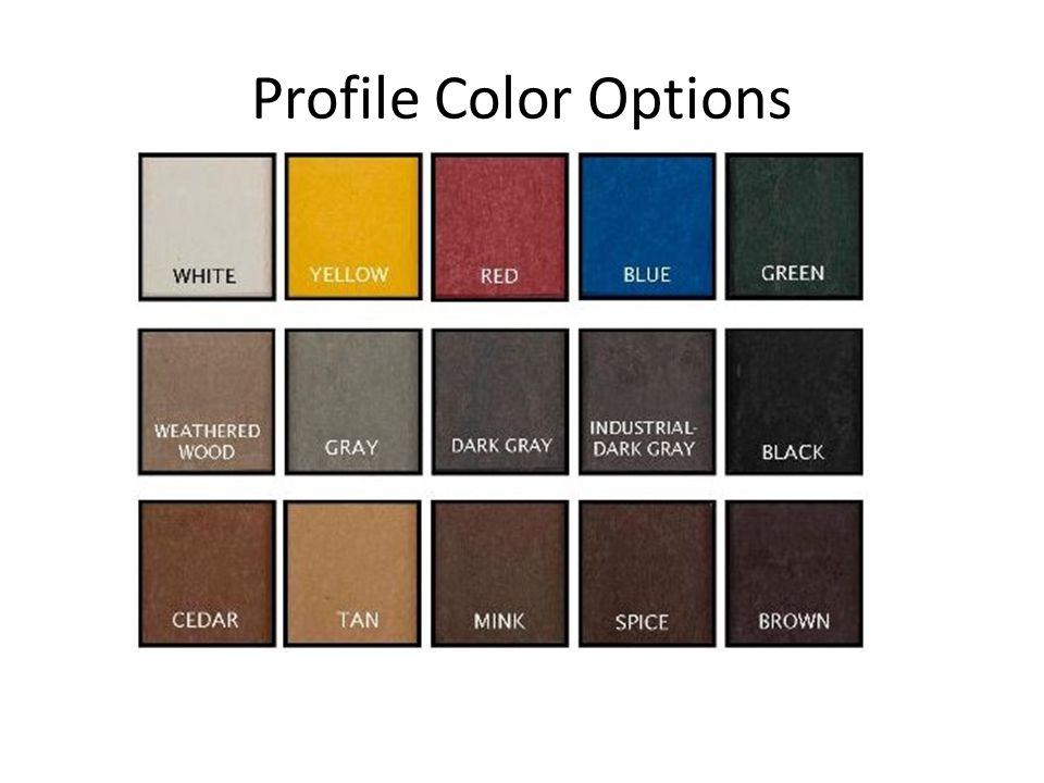 Profile Color Options