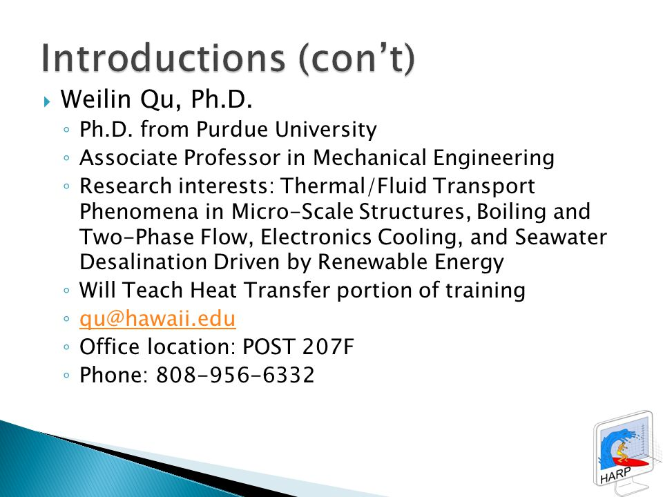  Weilin Qu, Ph.D. ◦ Ph.D.