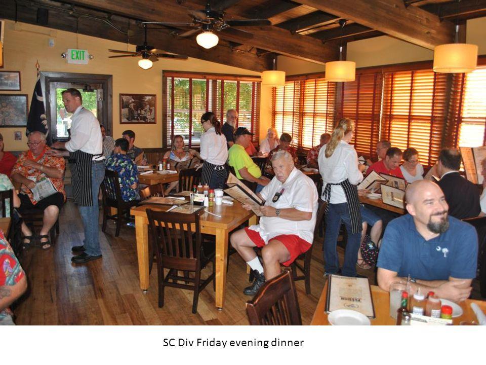 SC Div Friday evening dinner