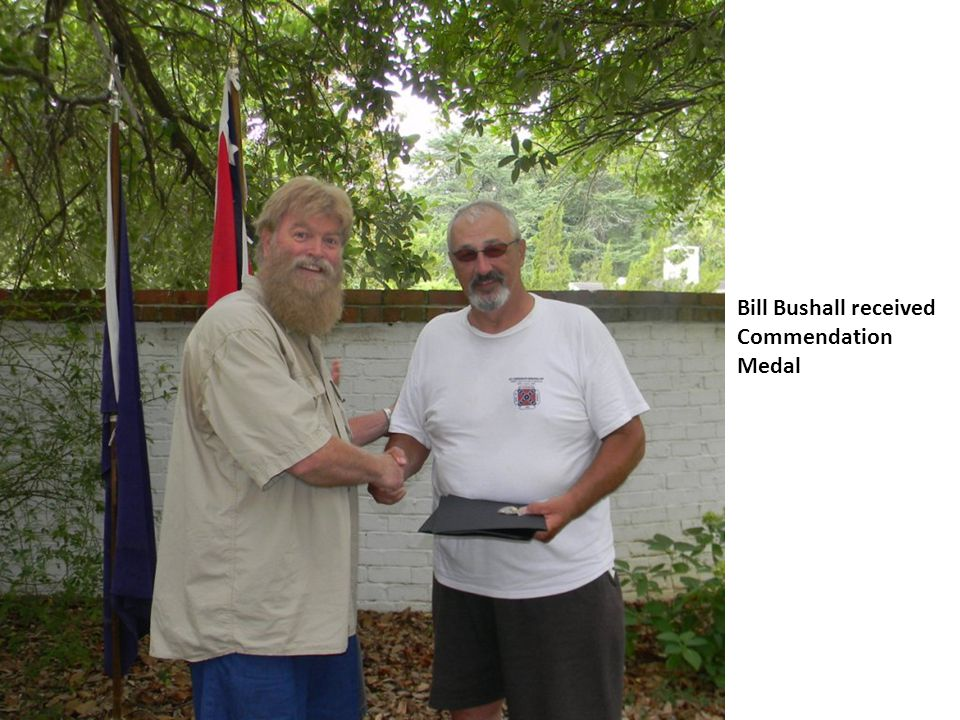Bill Bushall received Commendation Medal
