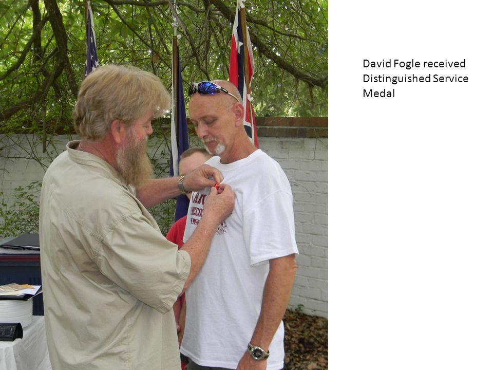 David Fogle received Distinguished Service Medal