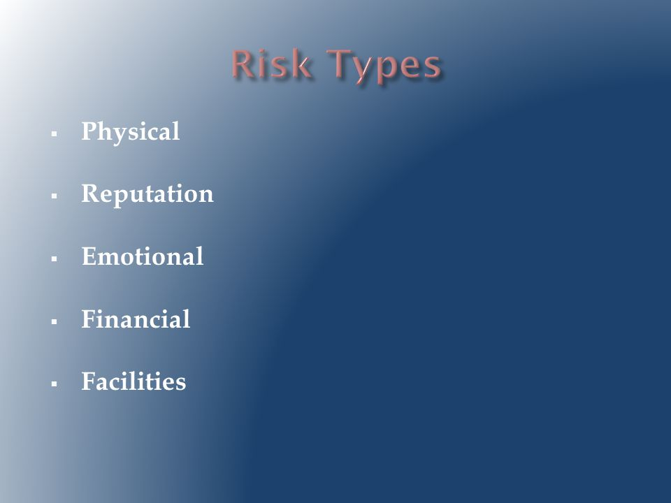  Identify risky behavior and activities  Assess the probability of adverse outcomes  Identify and implement controls to eliminate or reduce the risk  Reassess the activity after the risks have been managed Georgia Institute of Technology, 2002