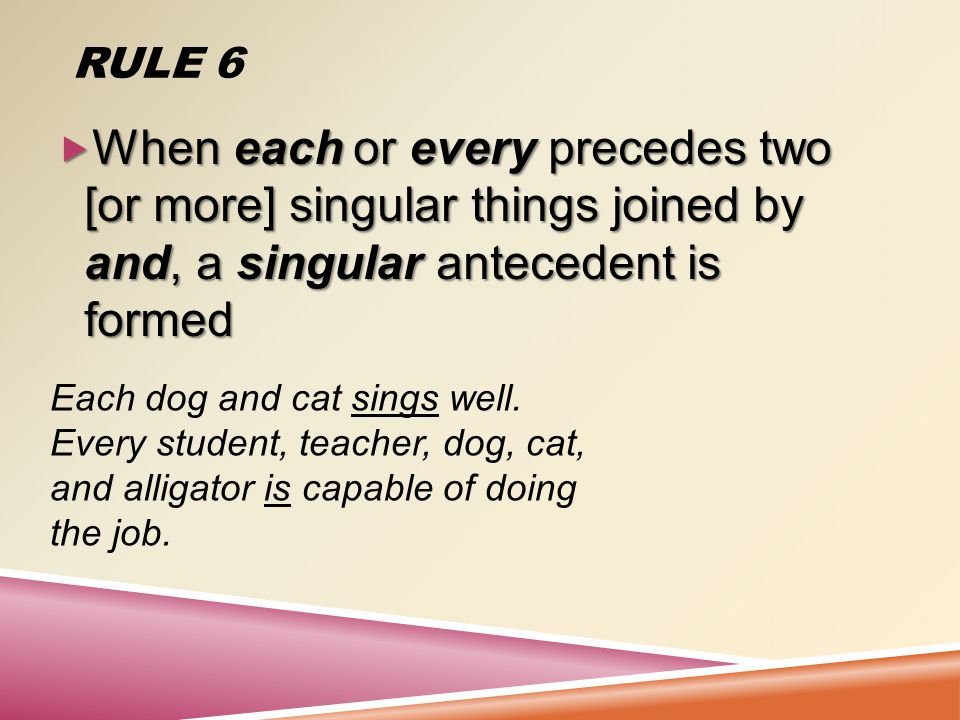 RULE 5.  The pronouns who, that, and which become singular or plural depending on the subject.