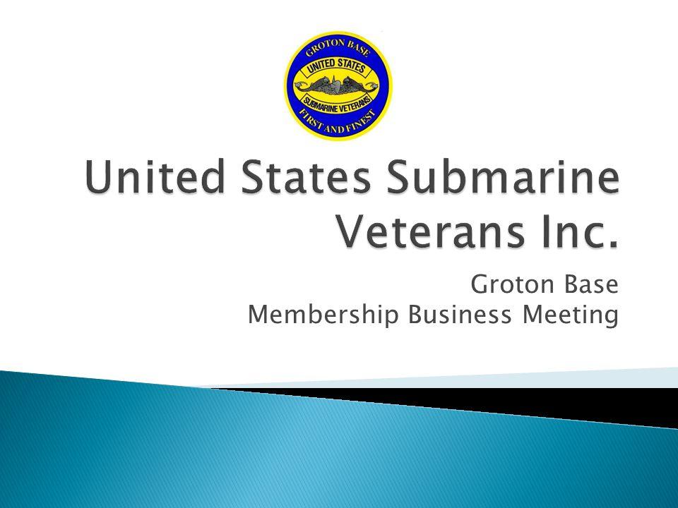 Groton Base Membership Business Meeting