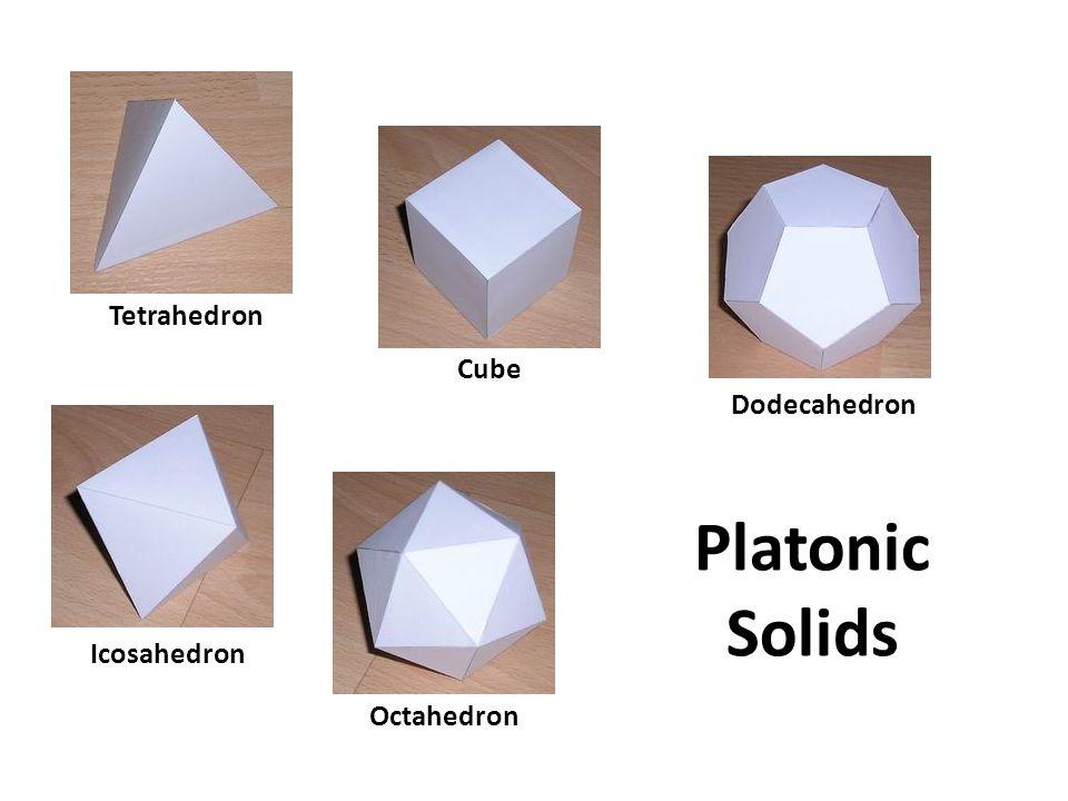 Tetrahedron Cube Dodecahedron Icosahedron Octahedron Platonic Solids