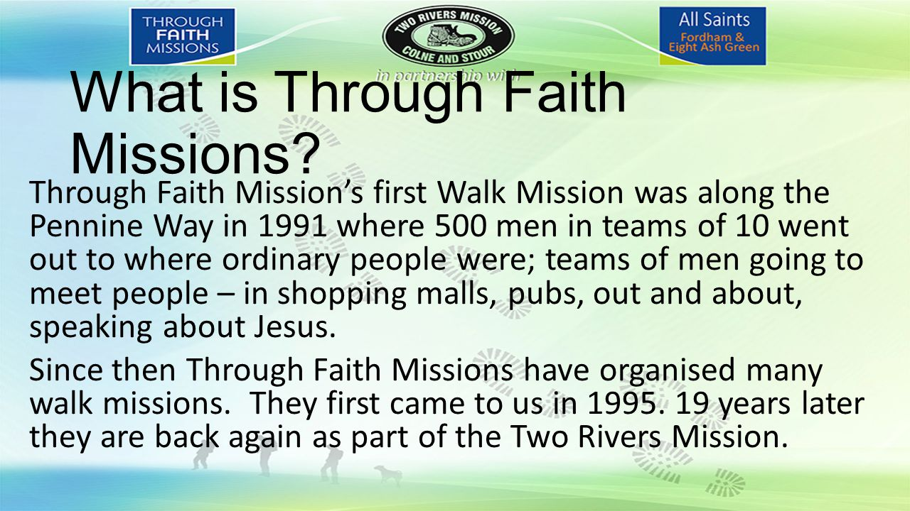 What is Through Faith Missions.