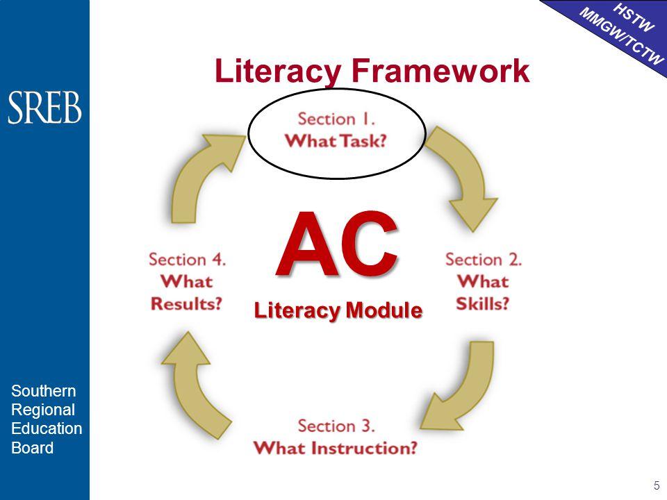 HSTW MMGW/TCTW Southern Regional Education Board Literacy Framework 5 AC Literacy Module