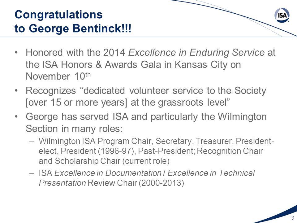 Congratulations to George Bentinck!!.