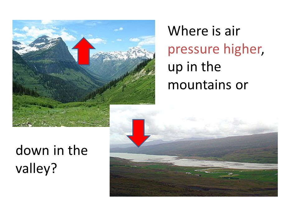 High pressure generally means fair weather Air mass in upper atmosphere Layer of Air Warm, moist air cannot rise No clouds