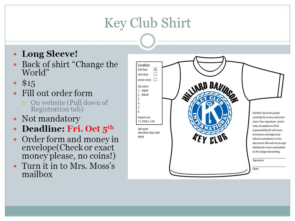 Key Club Shirt Long Sleeve.