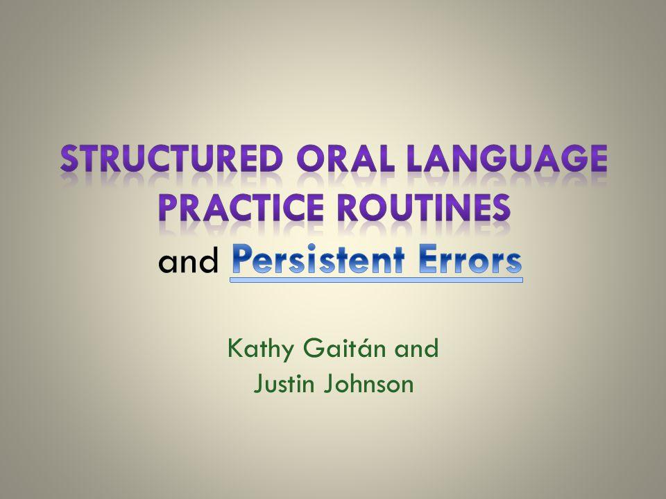 Kathy Gaitán and Justin Johnson