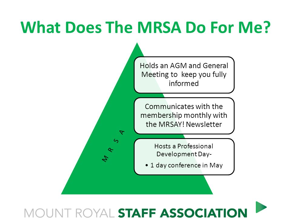 What Does The MRSA Do For Me.