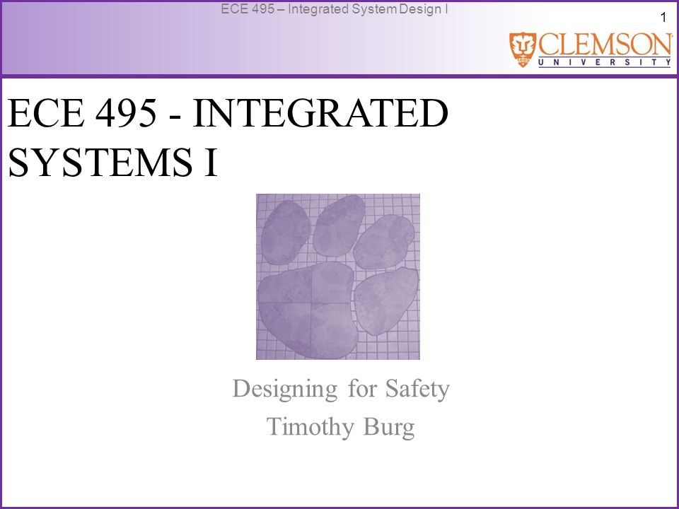 62 ECE 495 – Integrated System Design I Limitations of Safety Analysis Frequently, human errors and hostile environments are overlooked.