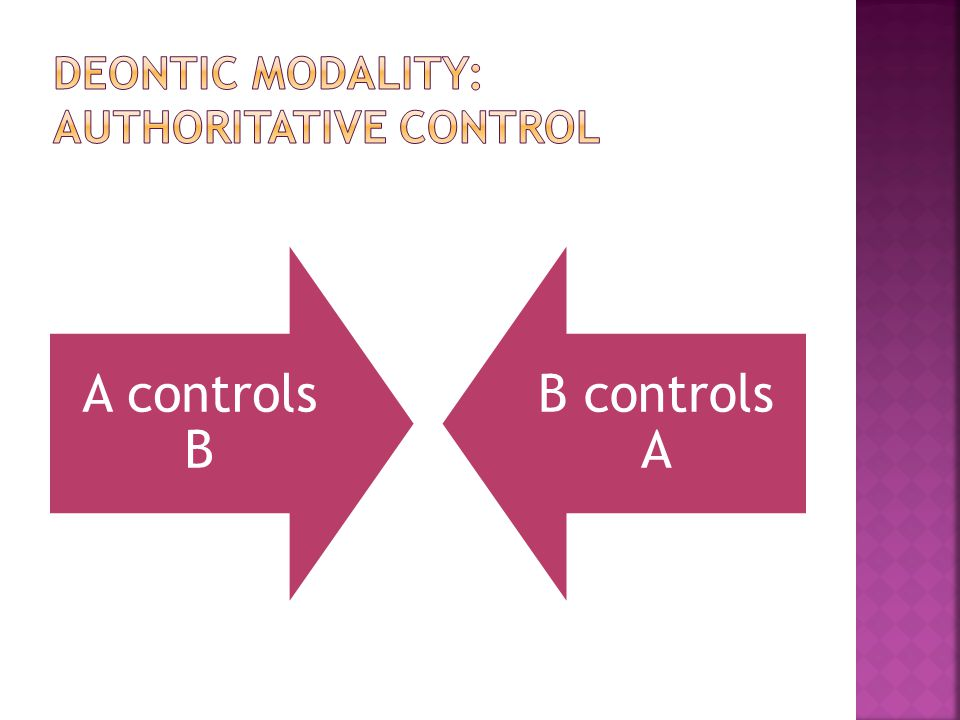 A controls B B controls A