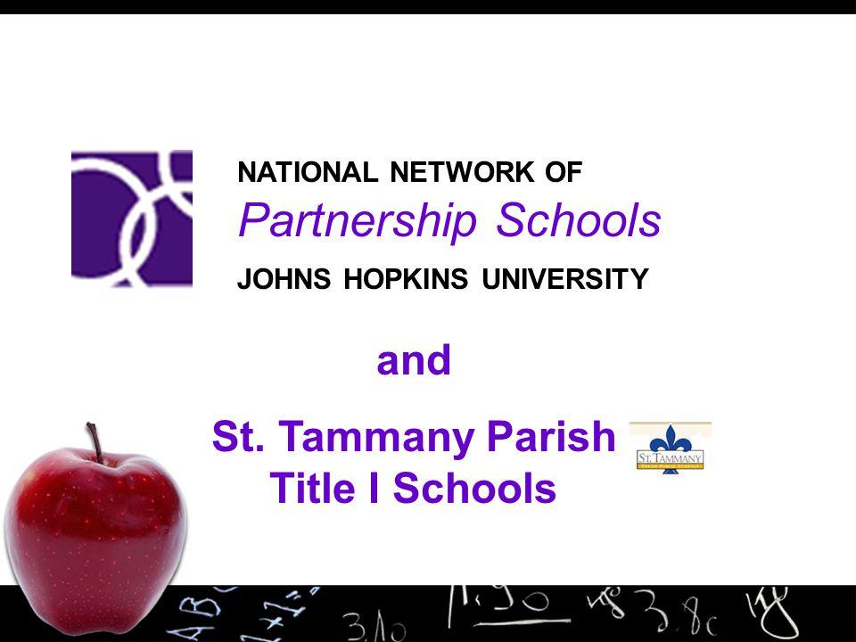and St. Tammany Parish Title I Schools NATIONAL NETWORK OF Partnership Schools JOHNS HOPKINS UNIVERSITY