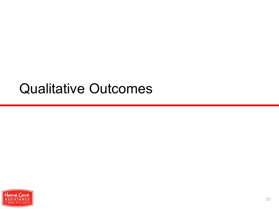 Qualitative Outcomes 21